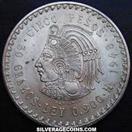 MEXICO Silver Coin CUAUHTEMOC 5 PESOS